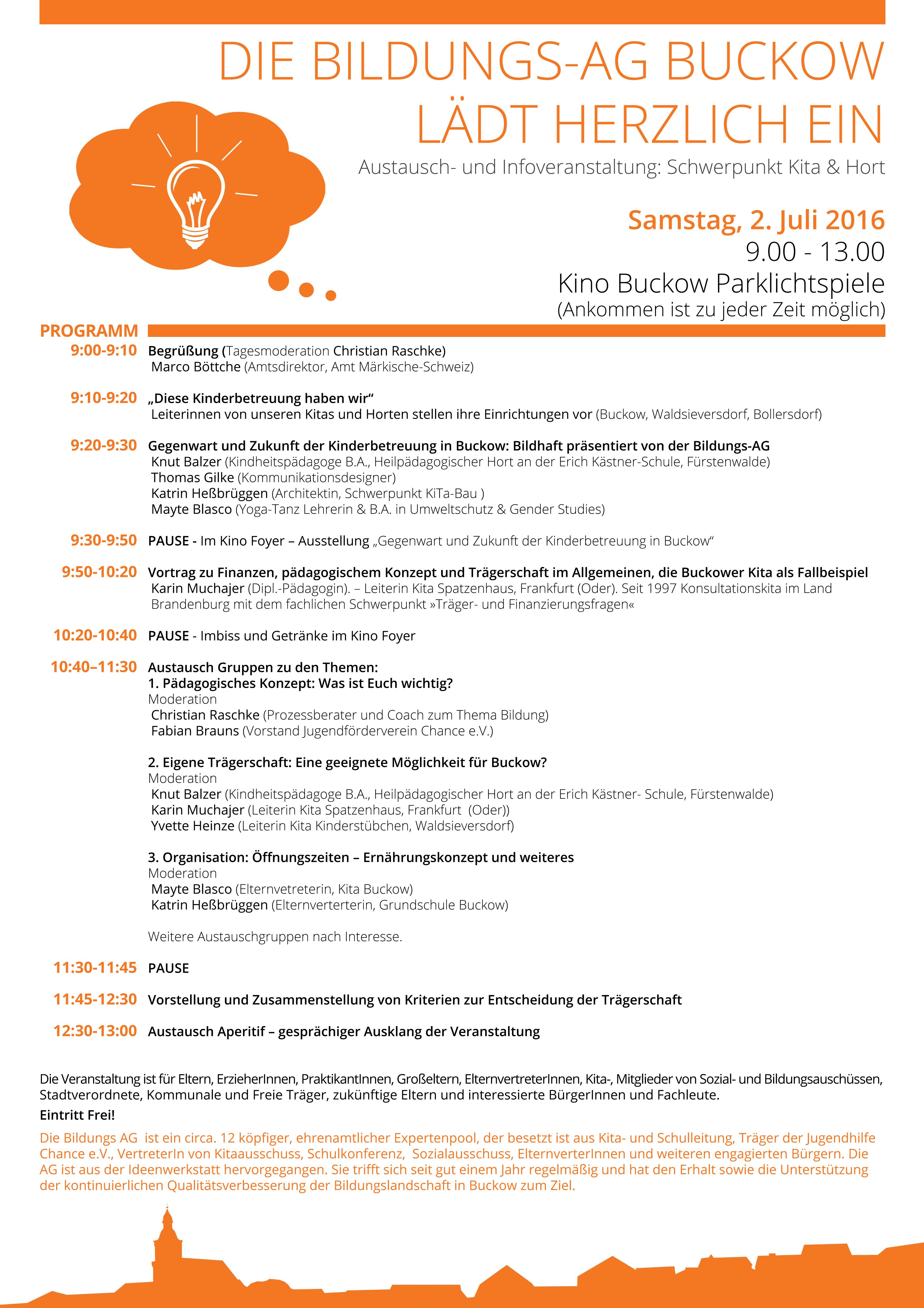 Einladung_BildungsAG Buckow_Infoveranstaltung Schwerpunkt KitaHort am 2 7 2016