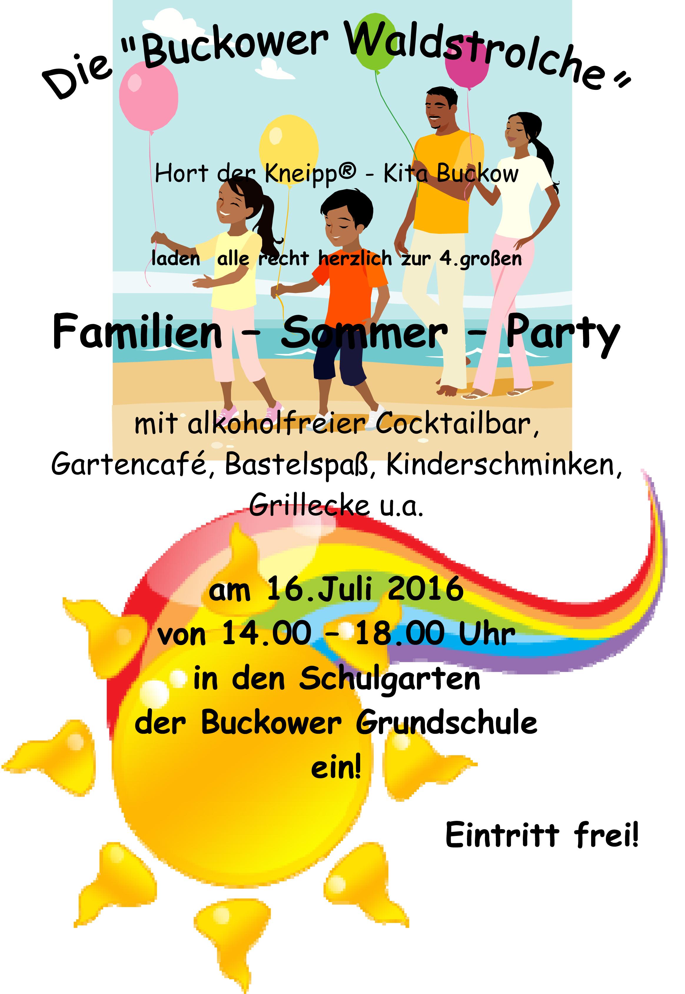Familien Sommer Party 2016